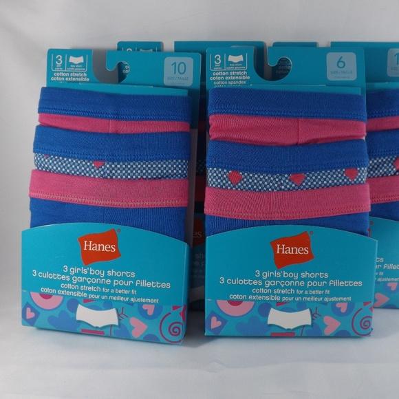 03a4b181b88 Hanes Accessories | Girls 3 Pack Tagless Boy Shorts Panties | Poshmark